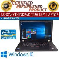 "Lenovo ThinkPad T530 15"" Intel i5 8 GB RAM 500 GB HDD Win 10 WiFi B Grade Laptop"