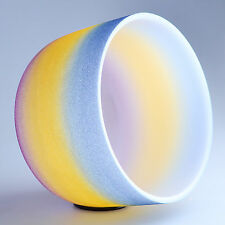 "8"" A Third Eye Rainbow Frosted Chakra Crystal Quartz Singing Bowl Heal Stone"