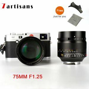 7artisans 75mm F1.25 M-mount Focus Lens For Leica M-m M240 M3 M5 M6 M7 M8 M9 M10