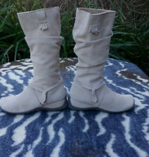Lilley & Skinner Beige suede leather boots UK size 5 EU 38