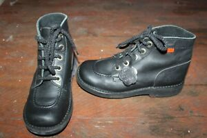 Chaussures KICKERS cuir noir Pointure 36