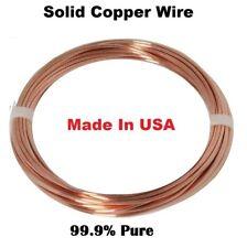 14 Ga Bare Copper Round Wire 10 Ft. Coil   ( Dead Soft )