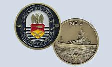 USS New Jersey BB-62 Battleship Challenge Coin The Big J