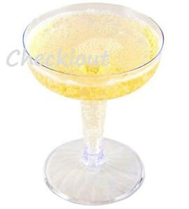 120 240 Event WEDDING Party Plastic Champagne Wine Martini Flutes Cups Glasses