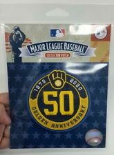 Milwaukee Brewers 50th Golden Anniversary 2020 Patch MLB Baseball Jersey Patch