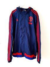 Manchester United Jacket. Medium. Adidas. Blue Adults Man Utd Football Coat M.