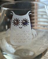 HOOT Stemless Wine Glasses Set | The Owl Series Pack Set of 4 15 Ounce Glass...