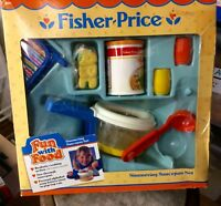 VTG FISHER PRICE Play Food SIMMERING SOUP SAUCE PAN NEW BOX Fun Tikes Kitchen