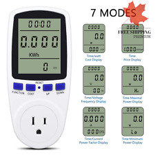 Electricity Usage Monitor Plug Power Meter Energy Watt Voltage Amps Meter wit...