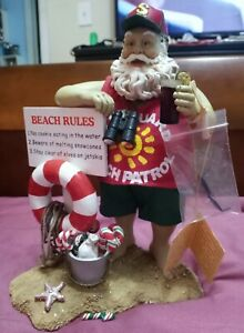 "KSA KURT ADLER Collectibles BEACH PATROL Santa w/ Box . 10 "" Christmas"