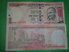 - INDIA PAPER MONEY - ONE  'MG' NOTE - RS. 1000/-  '2015' - TELESCOPIC NOs. # EI