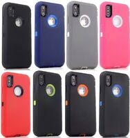 Lot 6-Pack Protective Defender Case for Apple iPhone 12 6s 7 8 Plus XR Wholesale
