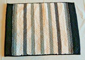 Absorbent Plush Black White Gray Bath Mat Bathroom Floor Shower Carpet Soft Rug