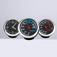 Car Luminous Quartz Hygrometer Time Mechanical Clock Thermometer Moisture Meter