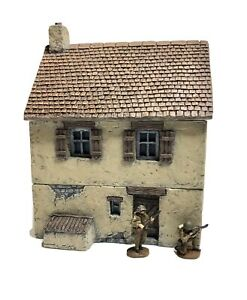 Wargame Scenery - 20mm - 1/72nd Scale - Two Storey Rendered House UNPAINTED