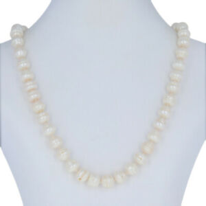 """Freshwater Pearl Strand Necklace 18 1/4"""" - 14k Yellow Gold Knotted"""