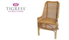Albany Hamptons Rattan Cane Armchair Dining Chair Natural