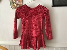 Ice Skating Figure Skating Dress Red- Girl's Size 10-12 Child
