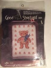 "Vintage 1985 Good Shepherd Counted Cross Stitch ""Blue Ribbon Bear"" Sealed"