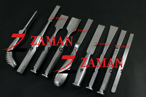 Bone Chesil and Osteotome 9 Pcs Set orthopedic Instruments By Zaman Products