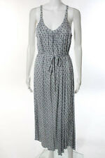 Soft Joie White Blue Printed Belted Sleeveless Maxi Dress Size Small