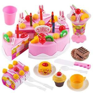 Kids Toys Food Cutting Pretend Role Birthday Cake  Child Kitchen Play Toy Sets