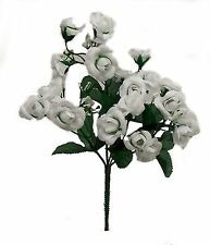 20 Mini Open Roses Bouquet ~ Many Colors ~ Centerpieces Silk Wedding Flowers New