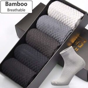 Comfortable Men Bamboo Fiber Socks Casual Business Anti-Bacterial Soft Socks