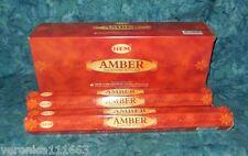 Amber 40 Incense Sticks NEW Sealed Spiritual scent Enhance psychic ability HEM