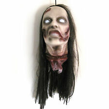 Female Severed Zombie Woman Head Lifesize Halloween Party Decoration Prop
