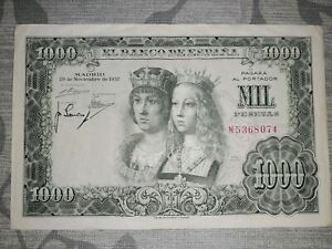 ESPAÑA 1000 Pesetas 1957 Reyes Catolicos