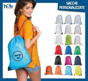 Sacca personalizzata zaino impermeabile a borsa zainetto sacche nylon mare sport