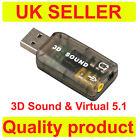External USB 2.0 to 3D Virtual Audio Sound Card Adapter Converter 5.1 Channels K
