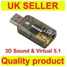Esterno USB 2.0 a 3d Virtual Audio Scheda Audio Adattatore Convertitore Video 5.1 canali K