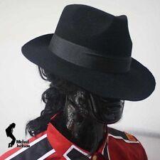 Michael Jackson schwarz Hut / Mütze aus 100% Wolle für MJ Fans 019