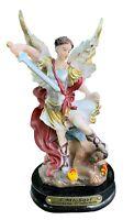 "5"" Archangel Michael Miguel Statue Figurine Figure Religious San Saint Angel New"