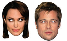 Brad Pitt and Angelina Jolie Official 2D Card Party Face Masks Variety 2 Pack