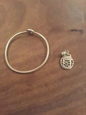Silver bracelet and pendant (no chain)