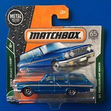 2018 Matchbox SHORT CARD 1964 FORD FAIRLANE STATION WAGON - mint on card!