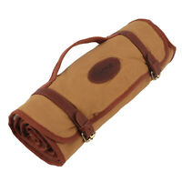 Tourbon Long Gun Cleaning Mat Pad Rifle Shotgun Clean Kits Pouch Canvas Leather