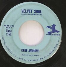 Jazz 45 Gene Ammons - Velvet Soul / A Stranger In Town On Prestige