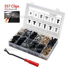 557pcs Clips Automotive X-Mas Tree Retainer Assortment Push Pin Fastener + Tool