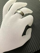 8Mm Men's Silver Celtic Loyal Knot Tungsten Carbide Wedding Band Ring