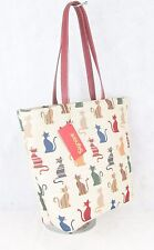 Colourful Cats Large Sized Tapestry Hand Bag - Shoulder Bag Signare
