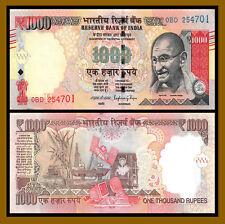 India 1000 (1,000) Rupees, 2016 P-107t Gandhi Unc