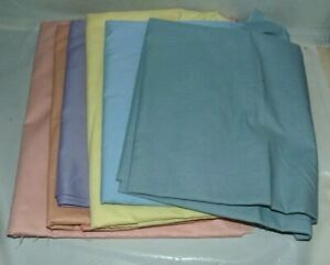 Fabric Remnant Lot Pastels Cotton