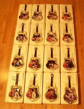 Complete Plate Set of 16 ELVIS PRESLEY ENTERTAINER OF THE CENTURY Guitar Plates