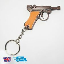 Rare Collectable Vintage Novelty Toy Gift Luger Pistol Cap Gun Key Chain Keyring