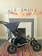 Mountain Buggy URBAN JUNGLE DUO/ DOUBLE/ BLUE JEAN/ EXCELLENT USED CONDITION