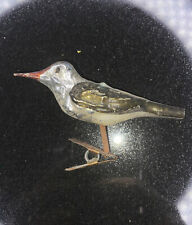 Bird Clip On Tree Vintage Glass Blown Christmas Ornament